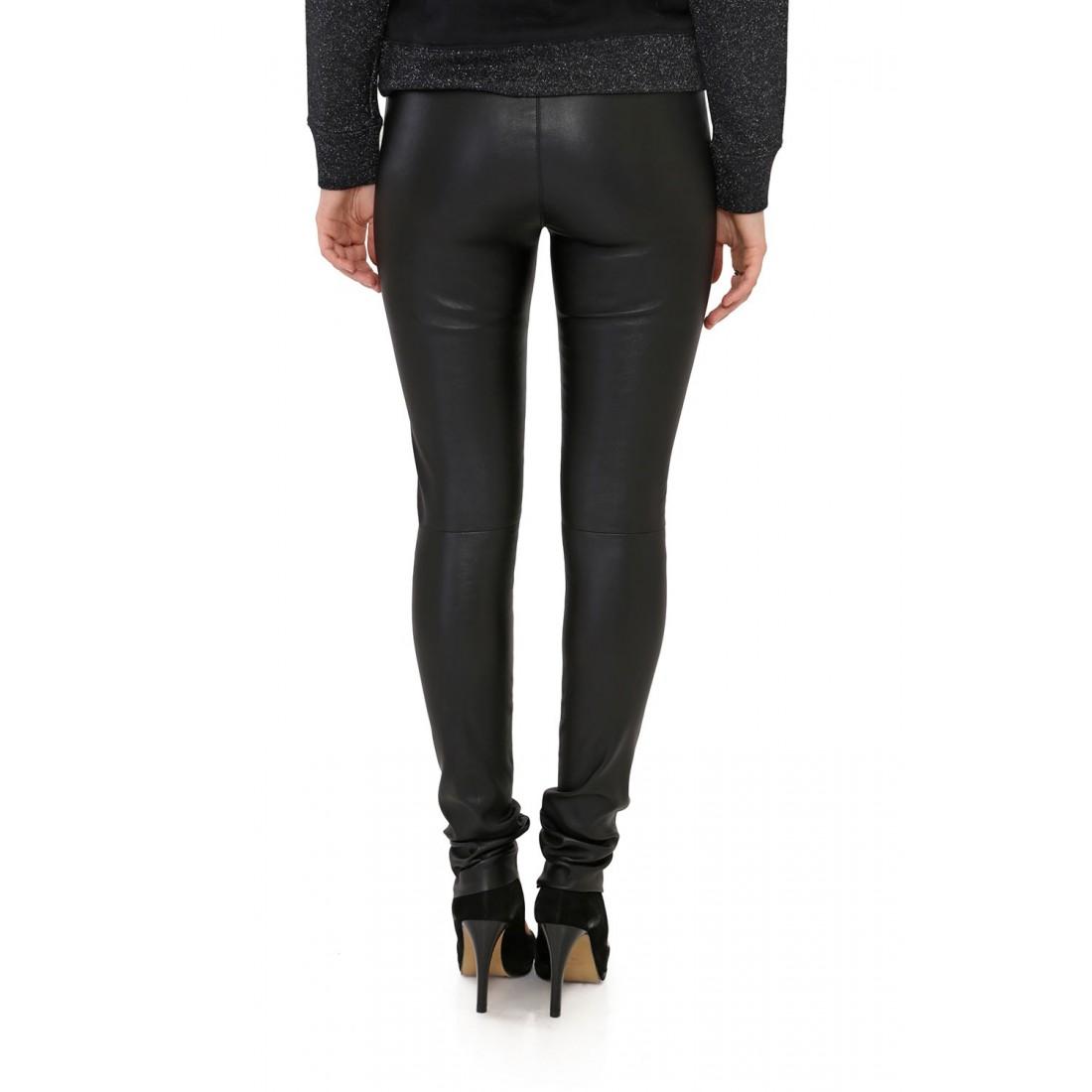 Pantalon En Cuir Stretch Oakwood Pandora Noir Pour Femme