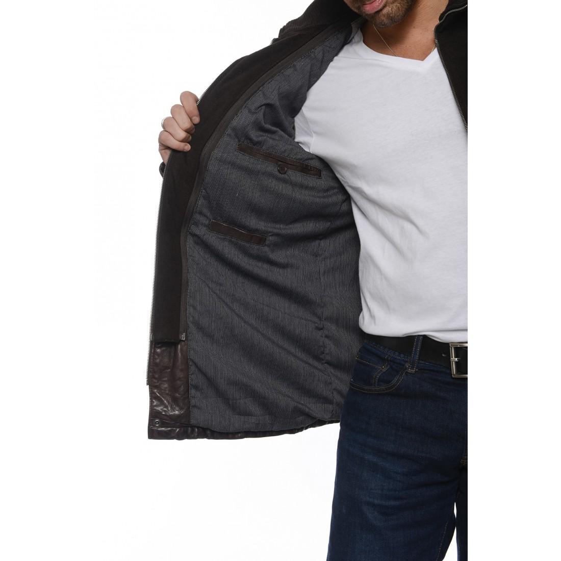 veste cuir daytona clinton marron pour homme. Black Bedroom Furniture Sets. Home Design Ideas