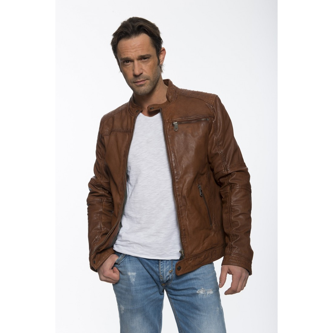 veste cognac homme ralph veste en cuir d agneau cognac homme veste cognac en cuir pour homme christ. Black Bedroom Furniture Sets. Home Design Ideas