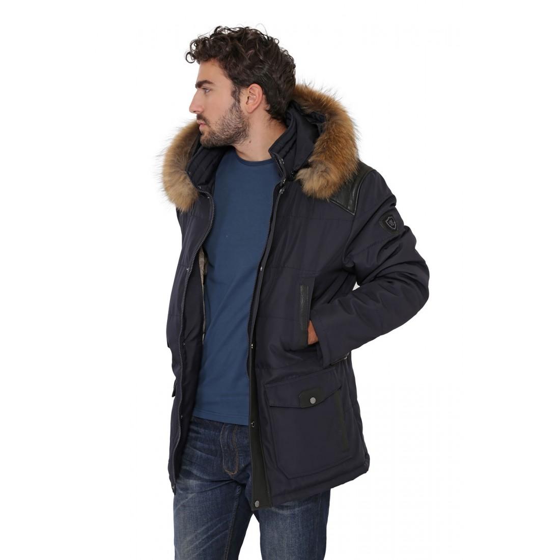 veste parka oakwood aspen bleu pour homme. Black Bedroom Furniture Sets. Home Design Ideas