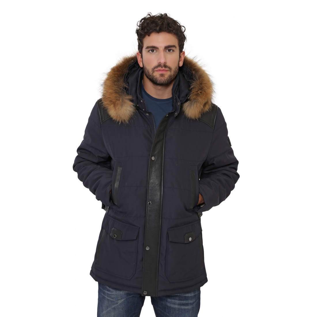 veste parka oakwood aspen bleu pour homme. Black Bedroom Furniture Sets. Home Design Ideas