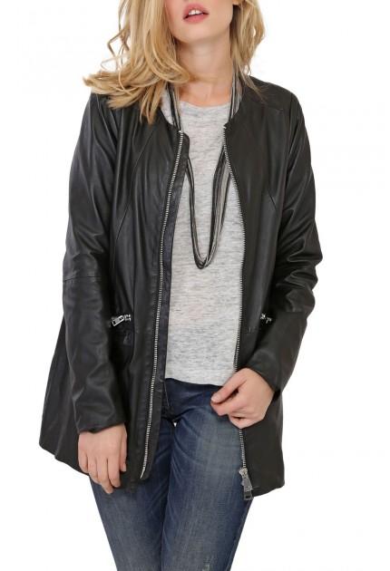 Manteau SABINE d'Oakwood en cuir Femme noir