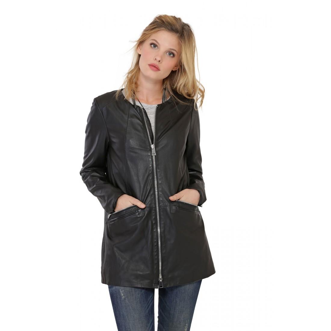 oakwood veste cuir femme veste en cuir femme oakwood linata veste en cuir femme oakwood linata. Black Bedroom Furniture Sets. Home Design Ideas