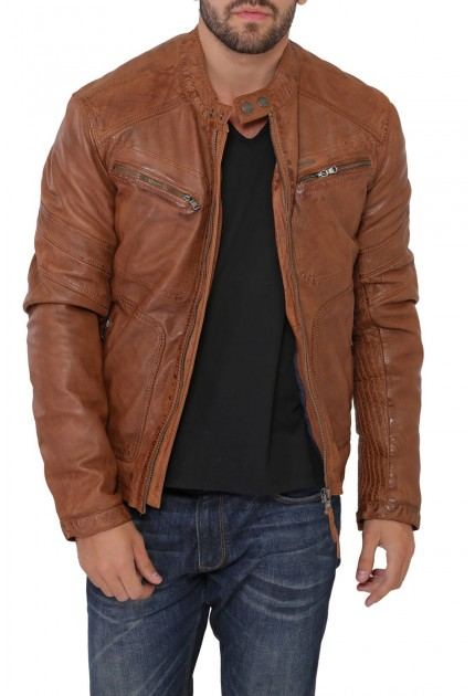 Blouson cuir homme Ayrton Calista Cognac Redskins