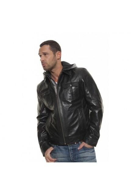 Blouson cuir homme Oakwood Stark 59454