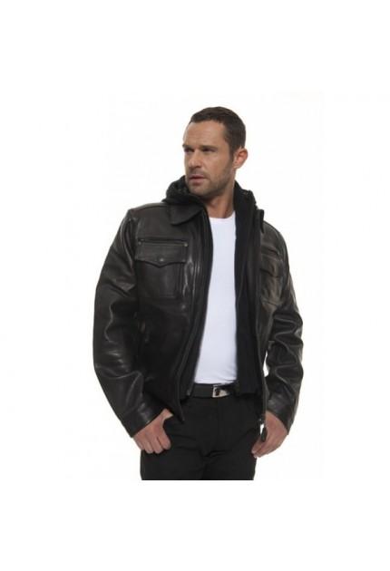 Blouson cuir homme Police