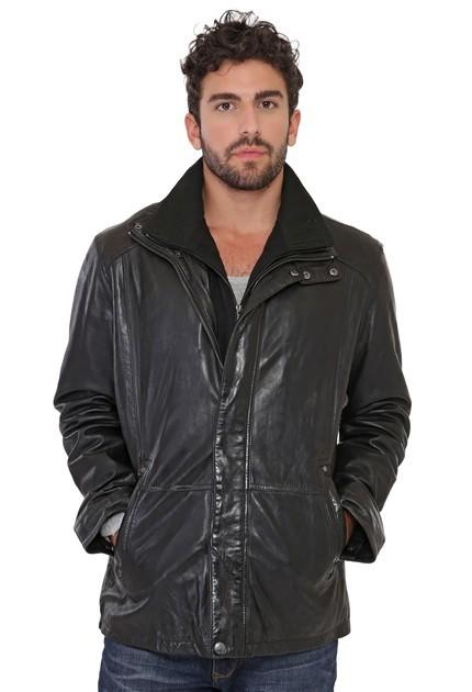 Veste Daytona Gloster en cuir homme noir