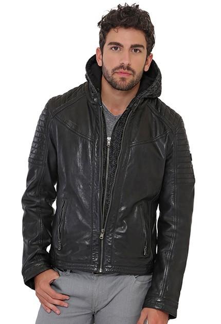 blouson cuir motard homme veste cuir style motard pour homme moncuir. Black Bedroom Furniture Sets. Home Design Ideas