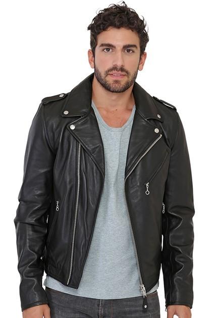 Perfecto LC1140 de Schott en cuir homme noir