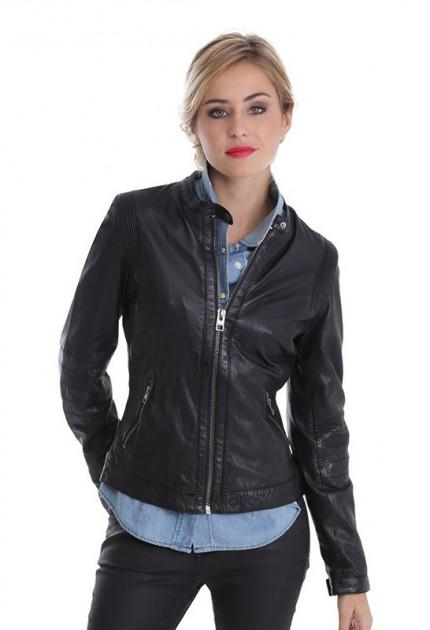 Blouson cuir femme Oakwood Rider 62064 noir