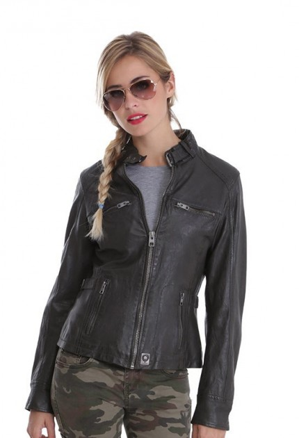 blouson cuir motard femme blouson style moto pour femme. Black Bedroom Furniture Sets. Home Design Ideas