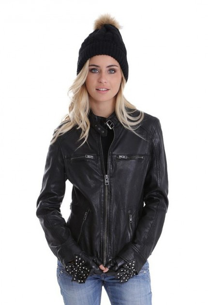 blouson cuir motard femme blouson style moto pour femme. Black Bedroom Furniture Sets. Home Design Ideas