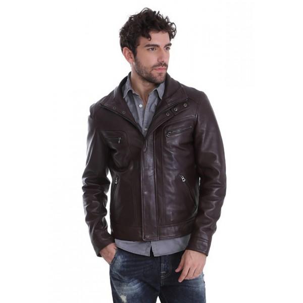 Blouson cuir homme Daytona Falcon marron