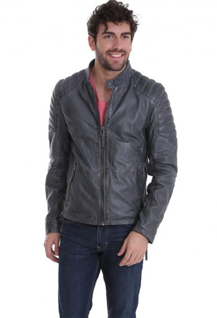 Blouson cuir homme Gipsy Chesney Gris
