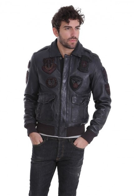 Blouson cuir homme redskins perry liverpool elephant