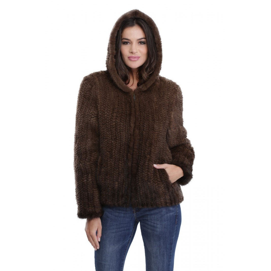 Manteau femme en peau pas cher