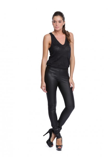 Pantalon Stretch Asteroid d'Oakwood en cuir femme noir