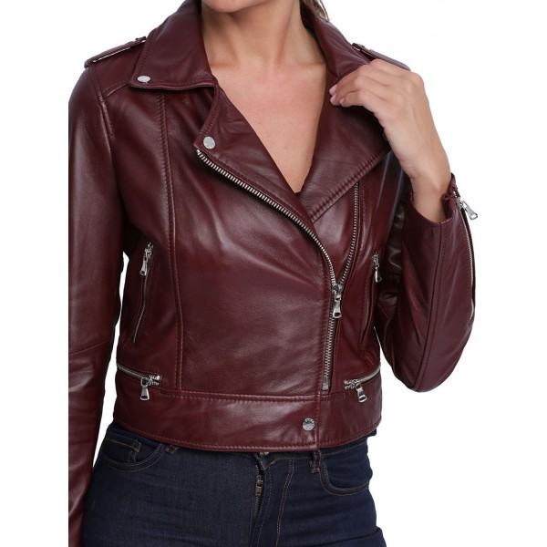 Veste perfecto bordeaux