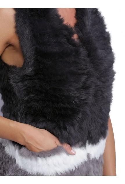 Gilet laine femme oakwood magali strips gris