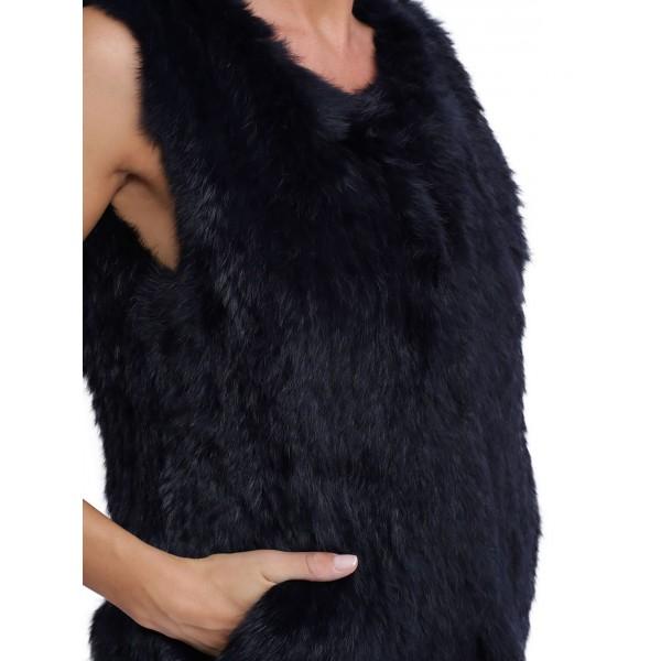 Gilet en fourrure pour femme oakwood Magali 62683 bleu 933