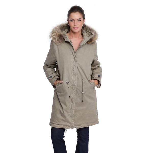 Parka avec capuche femme oakwood colony light kaki 62671 naturel 556