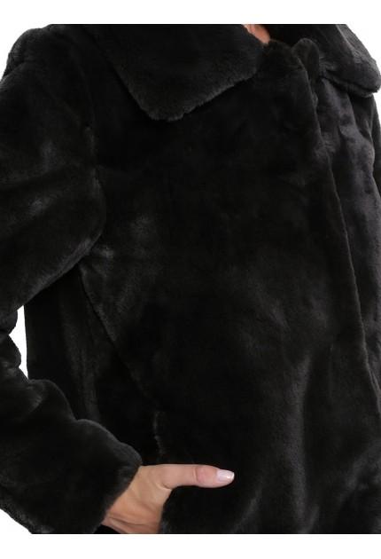 Blouson cuir femme Oakwood Sounder 62622 gris foncé 529