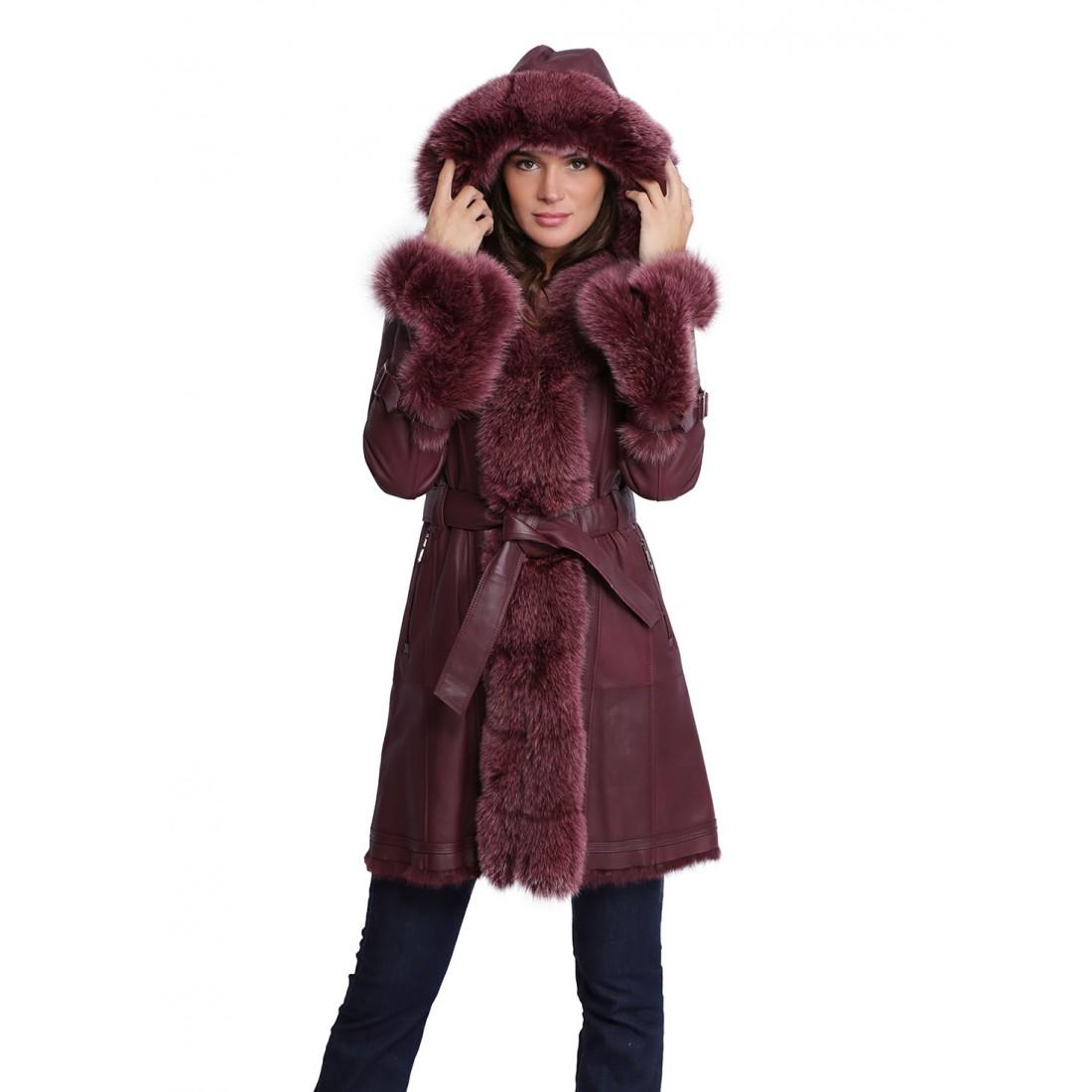 Manteau femme poil long