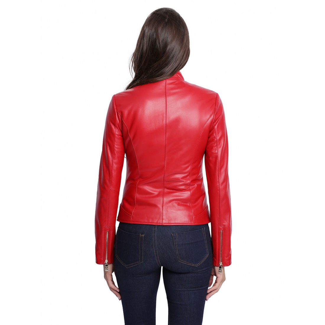 blouson cuir giovanni perry pour femme rouge. Black Bedroom Furniture Sets. Home Design Ideas