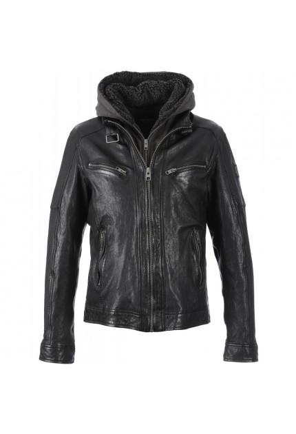 Blouson cuir COCKTAIL 62608 pour homme OAKWOOD noir 501