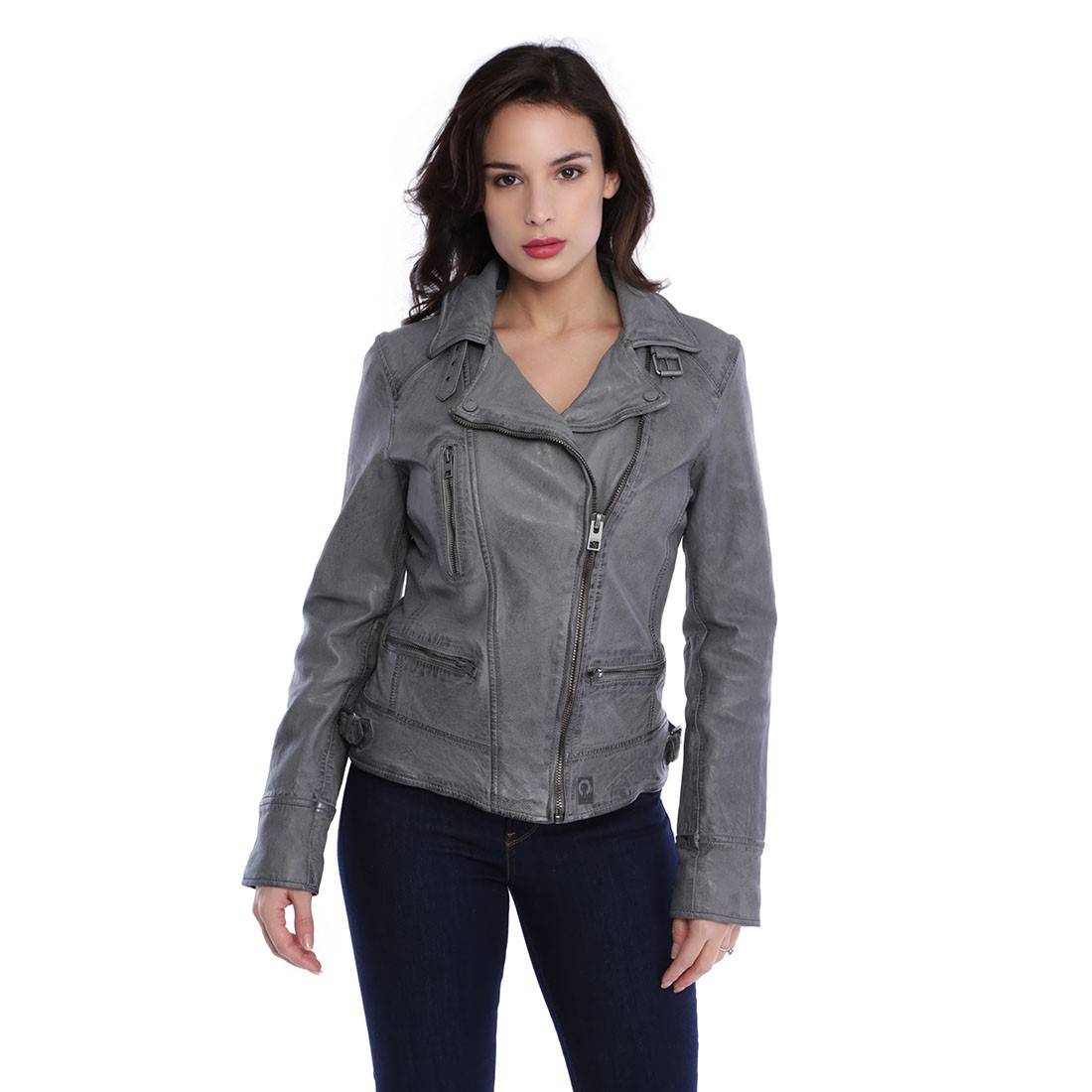 Anthracite Oakwood Video Blouson Cuir Femme YbIgy7f6v