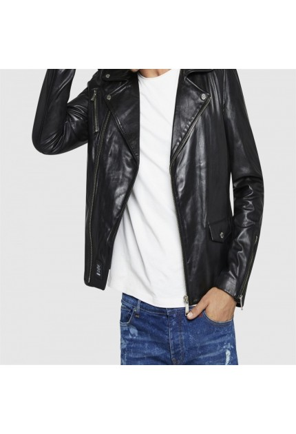 BLOUSON CUIR DYER GETTY REDSKINS NOIR