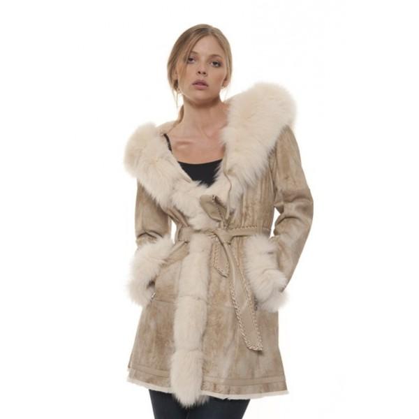 Manteau femme a fourrure
