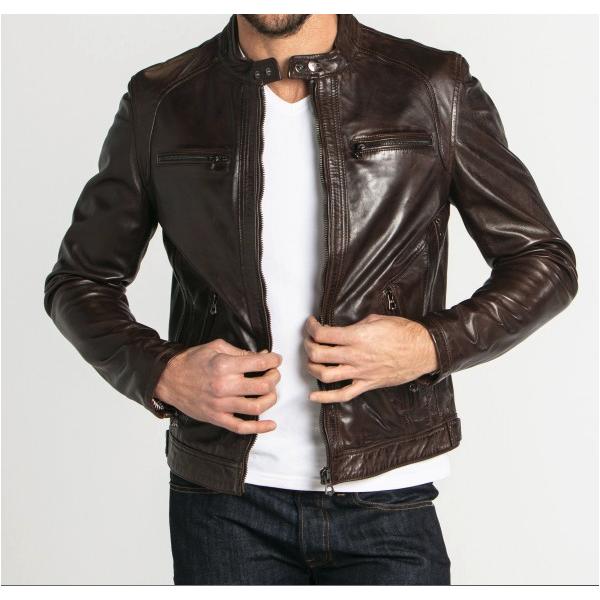 manteau cuire homme sandro
