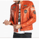BLOUSON CUIR WALKER DAYTONA HOMME ATLAS ORANGE