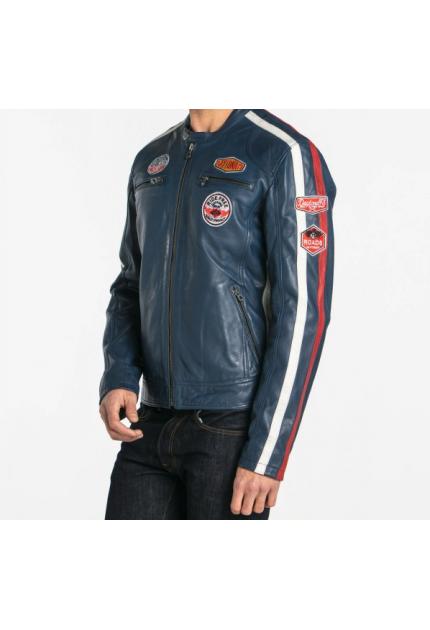 ca82063bb Soldes Blouson cuir homme & veste cuir : Blouson tendance pas cher ...