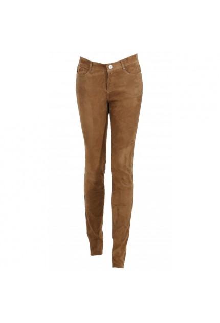Pantalon Cuir Stretch Pandaroa d'Oakwood Femme TOBACCO 511