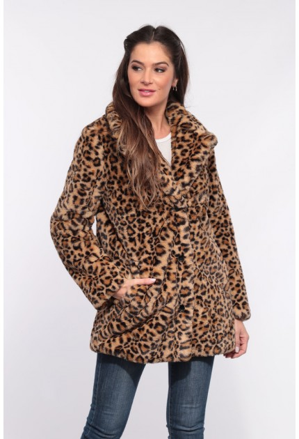 MANTEAU EN FAUSSE FOURRURE USER OAKWOOD LEOPARD 557