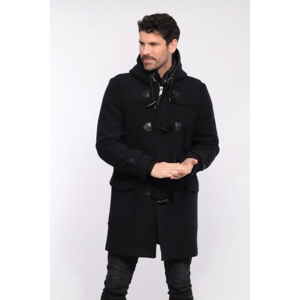 Duffle coat noir Mcguard de Schott