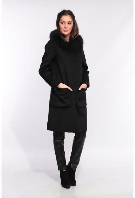 Manteau en laine reversible Oakwood Yale Bi noir et gris