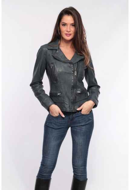 Blouson cuir femme Oakwood Video 2 Denim